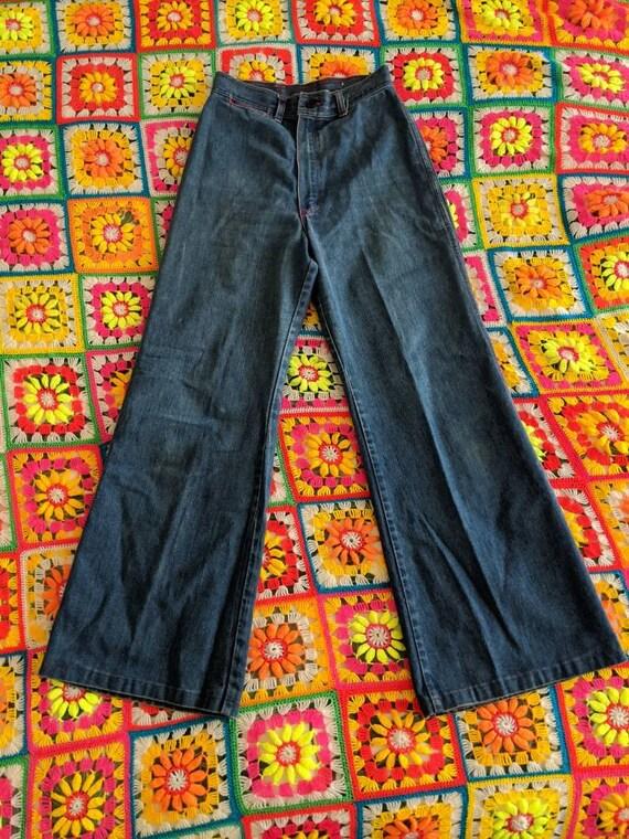1970s Wrangler Flares Jeans // Vintage Wrangler B… - image 3