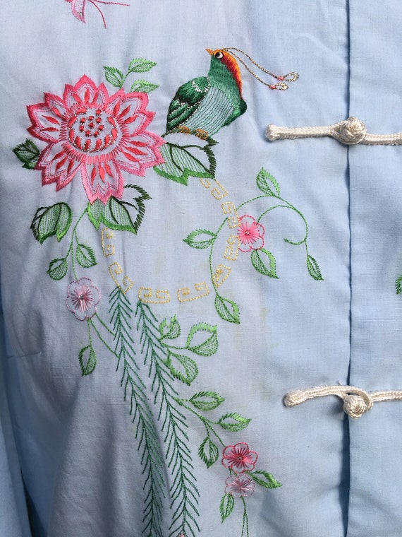 1960s Chinese Embroidered Blouse // Embroidered B… - image 3
