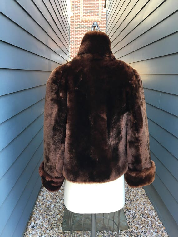 Vintage Beaver Fur Bolero Jacket // Vintage Fur j… - image 4