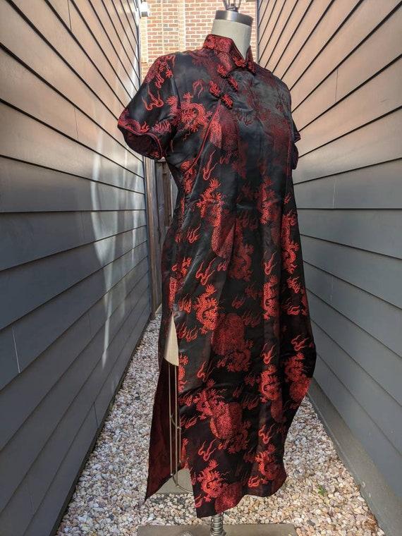Vintage Chinoiserie Dragon Tunic Dress // Vintage