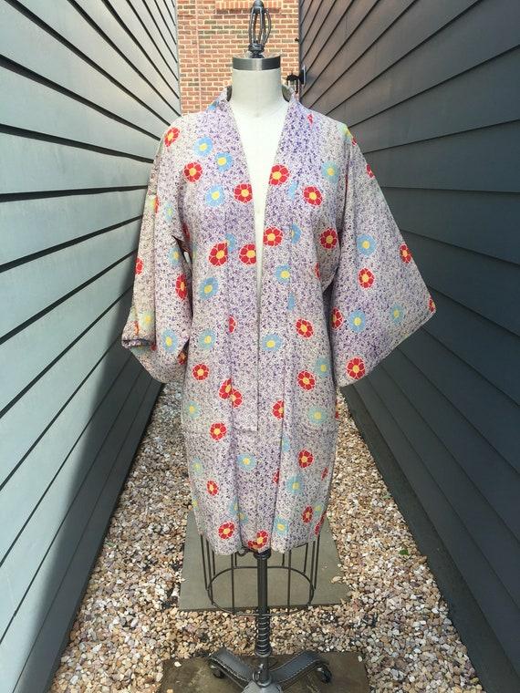 SALE Vintage Japanese Silk Kimono // Vintage Flora