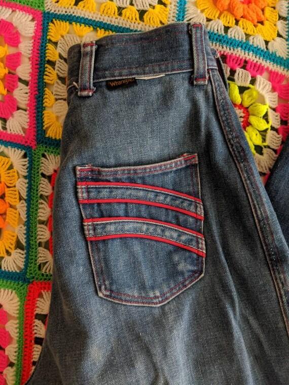 1970s Wrangler Flares Jeans // Vintage Wrangler B… - image 5