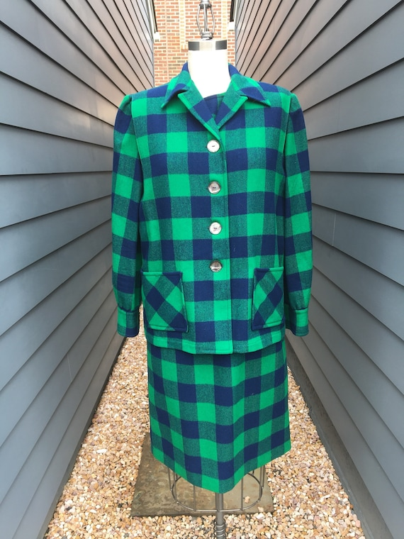 Vintage Pendleton Wool Two-piece Set // Vintage Pe