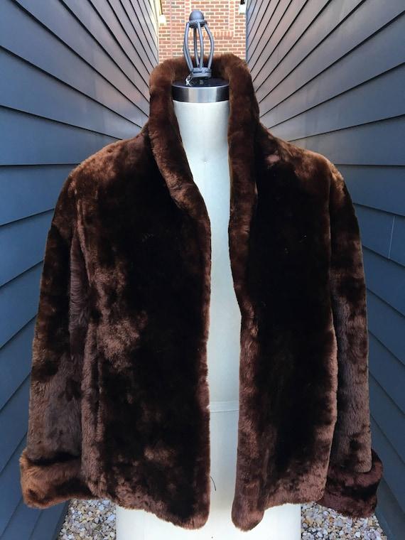 Vintage Beaver Fur Bolero Jacket // Vintage Fur j… - image 1