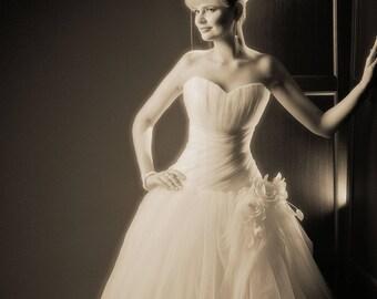 Princess Wedding Dress. Ballgown Wedding Dress. Sweetheart Bridal Dress.