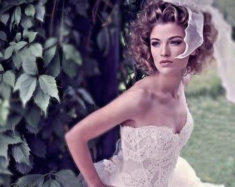 Wedding Lace Corset. Bridal Alencon French Lace corset. Sweetheart Wedding Corset. Bridal Separates. Wedding top.
