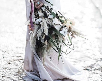 Matt Satin Fishtail Mermaid Wedding Skirt, Beautifully lined with silky satin, Bridal Separates, Skirt, Wedding dress, vintage, bohemian