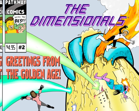 Download The Dimensionals #2, all-ages STEM girl superhero comic book!
