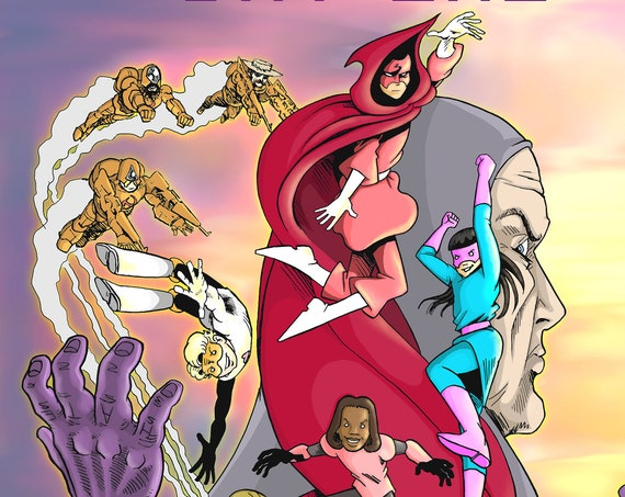 The Dimensionals: Day One limited edition (150 copies) 1st edition 1st printing all ages superhero Graphic Novel STEM girls science fantasy