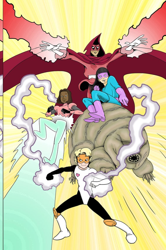 Download The Dimensionals #1, all-ages STEM girl superhero comic book!