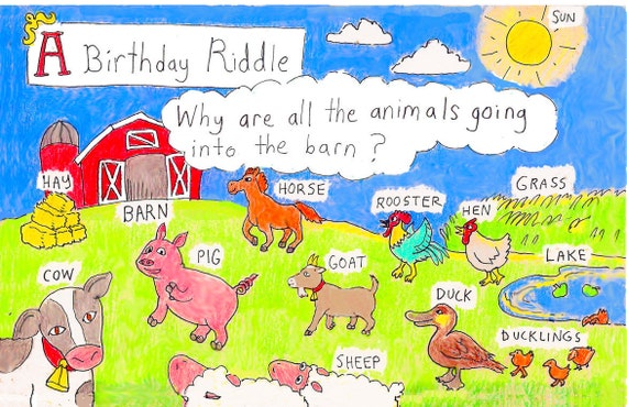 Farm Birthday Card Etsy