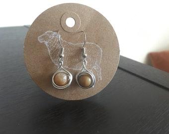 Wire wrapped boho earrings (earth)