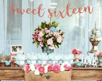 Sweet 16 Decorations Etsy