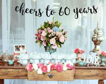 60th Birthday Decor Etsy