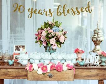 Happy 90th Birthday Etsy Rh Com Party Decoration Ideas