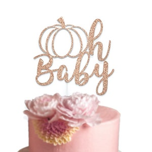 Gender Reveal Baby Sprinkle Fall Baby Shower Gender Neutral Baby Decor Boy or Girl Little Pumpkin Cake Topper Autumn Baby Shower