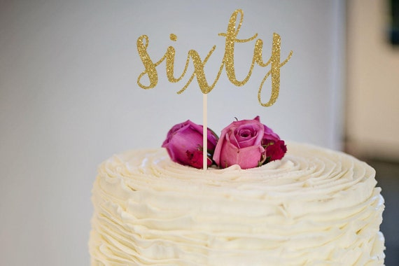 60th Birthday Cake Topper Dirty Sixty
