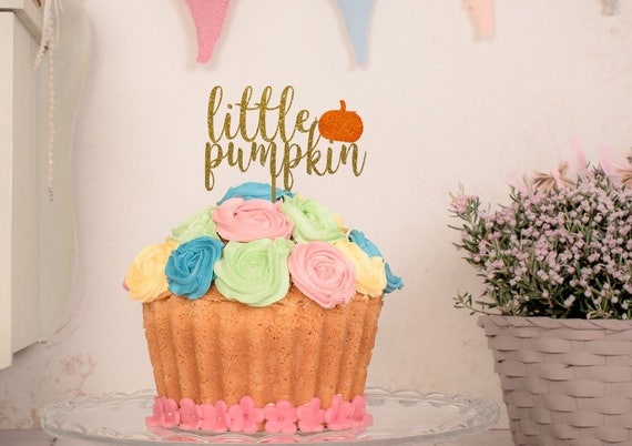 Little Pumpkin Cake Topper Fall Baby Shower Autumn Baby Etsy
