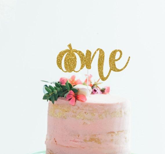 Pumpkin One Cake Topper One Cake Topper 1st Birthday Cake Topper Fall 1st Birthday Cake Topper