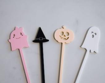 halloween drink stirrers, stir sticks, halloween decor, halloween party, ghost decor, halloween decorations, drink stirrers, acrylic stirrer