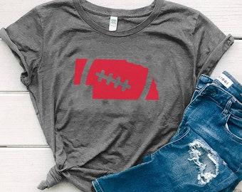 Nebraska Shirt Women's Organic Cotton Graphic, Football Fan Tee | Slim Fit Size Up