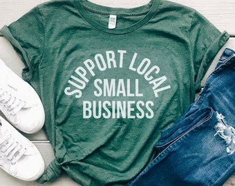 Support Local Small Business Eco Friendly Organic Cotton Women's Graphic Tee, Shop Small Christmas Gift