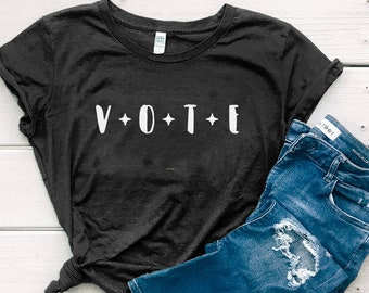 Vote Shirt, 2020 Election Shirt, Organic Cotton Women's Graphic T-shirt, Voting Shirt, T-Shirt for Women | Cannot Guarantee Delivery by 11/3