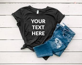 4e8adb0b0d36 Custom T-shirt Design | Women's Organic Cotton Graphic Tee | Personalized  Shirt | Send Us Your Saying | Ladies T-shir | Short Sleeve Tee