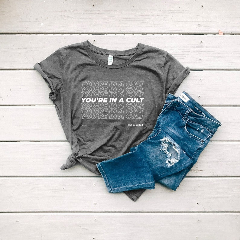 You're In A Cult Women's Organic Cotton Graphic Tee image 0