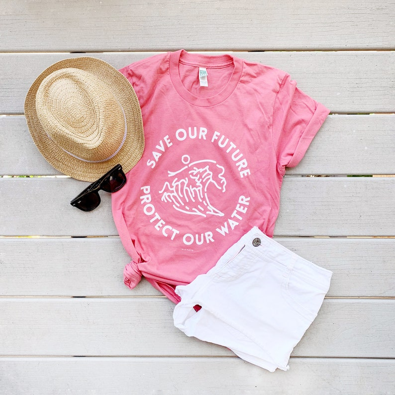 Save Our Future Protect Our Water Eco-Friendly Graphic Tees image 0
