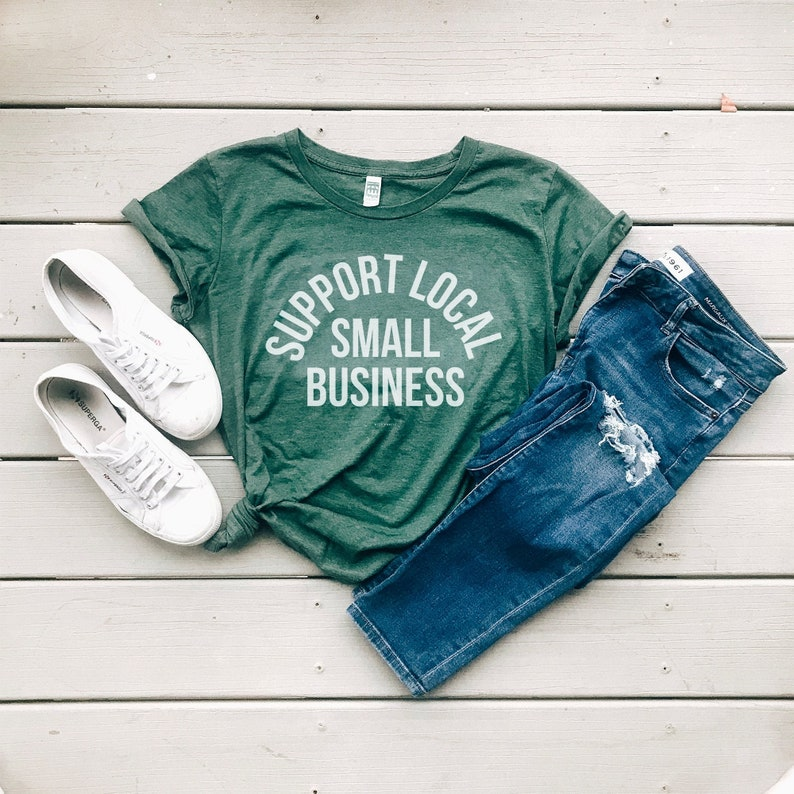 Support Local Small Business Eco Friendly Organic Cotton Heather Pine