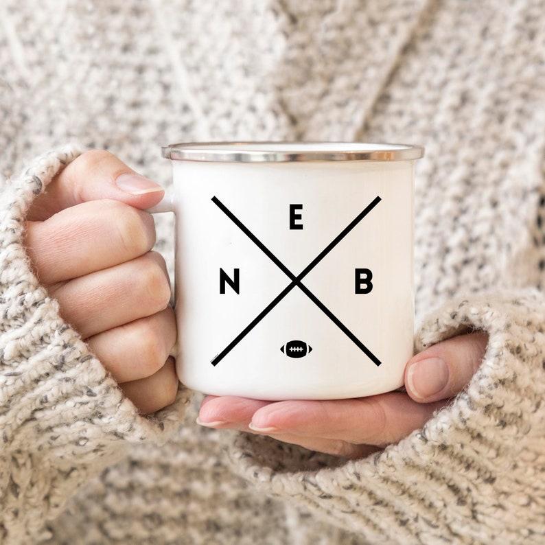 Nebraska Enamel Mug 10oz Coffee Mug Coffee Cup Camping Mug image 0