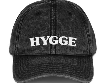 Hygge Vintage Cotton Twill Cap, Baseball Cap, Baseball Hat, Dad Cap, Dad Hat, Fall Hat