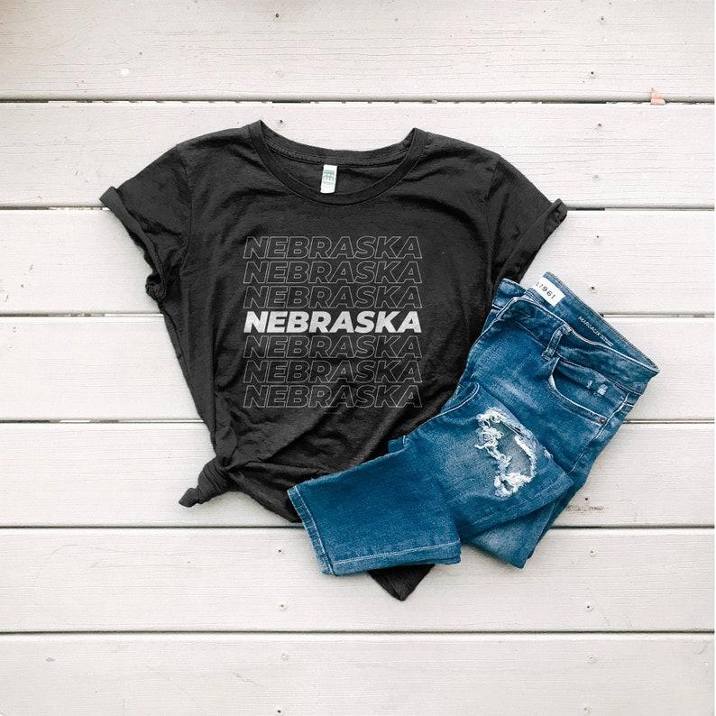 Nebraska Shirt Women's Organic Cotton Graphic Tee Eco Shadow