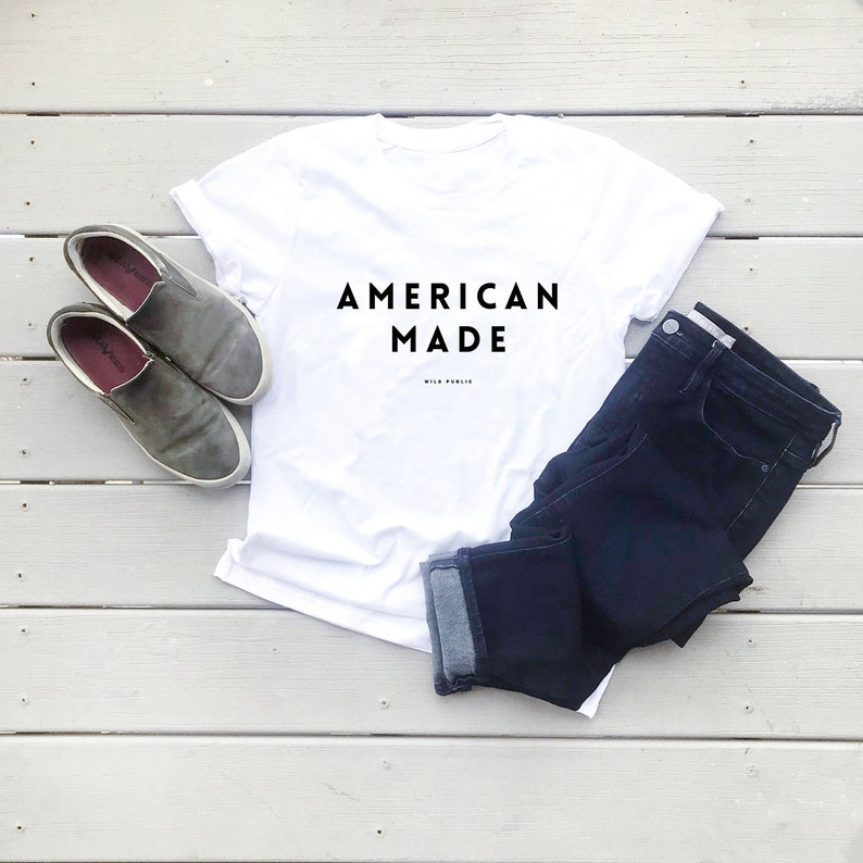 American Made Eco Friendly Organic Cotton Graphic Tee Unisex image 0