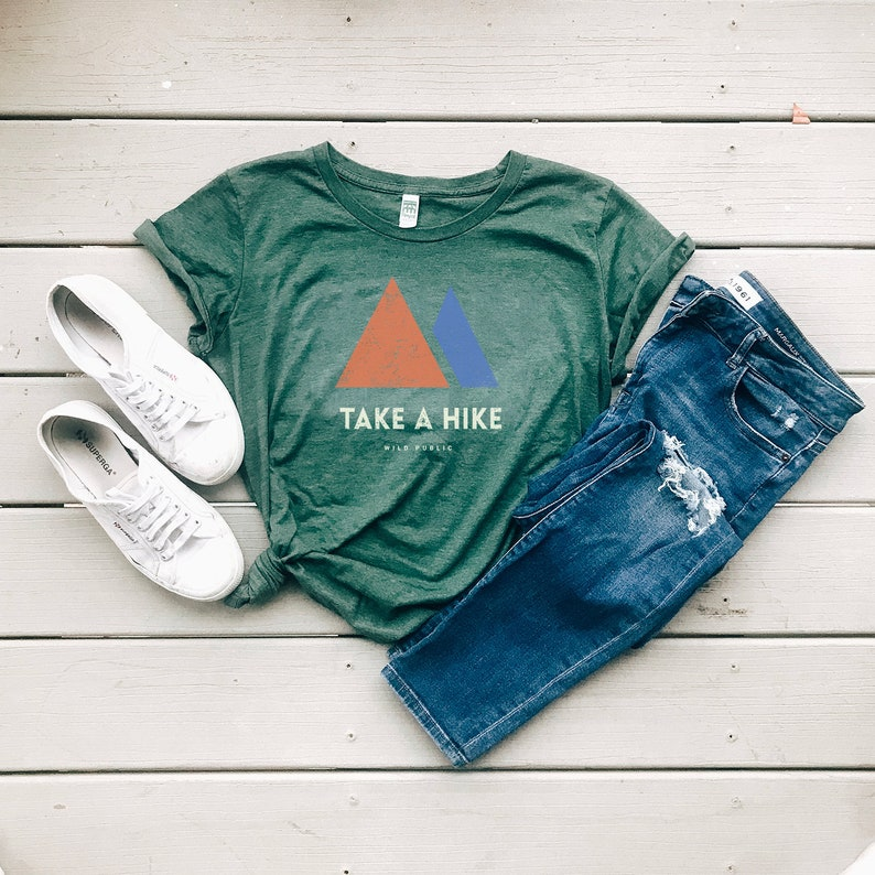 Take A Hike Organic Women's Graphic Tee  Slim Fit Size Up image 0