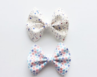 PATRIOTIC BOWS / red, white, blue / Fourth of July / Independence Day