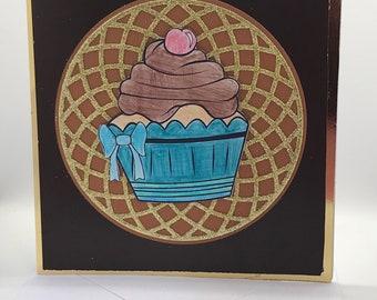 Glitter cupcake card