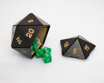 D20 Dice Box and Shaker