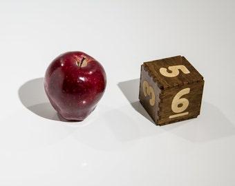 Classic JUMBO Wood D6 Dice for RPGs