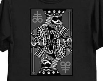 King Of Cvlts - Black Metal - Satanic - Cards - Dark - Shirt - Tee - T-Shirt