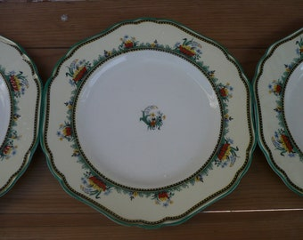 Royal Ivory, John Maddock and Sons, Minerva, Set of 3 Bread and Butter Plates