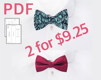 Pdf pre tied bow tie digital sewing pattern and tutorial bow etsy bowtie pattern mens self tie bow tie pattern tuxedo bow tie tutorial how to make adjustable bow ties pdf sewing pattern diy gifts for mom ccuart