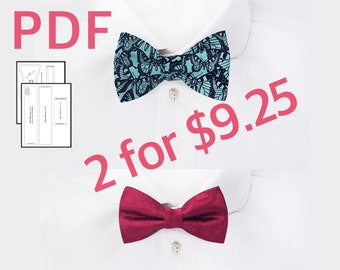 Pdf pre tied bow tie digital sewing pattern and tutorial bow etsy bowtie pattern mens self tie bow tie pattern tuxedo bow tie tutorial how to make adjustable bow ties pdf sewing pattern diy gifts for mom ccuart Image collections