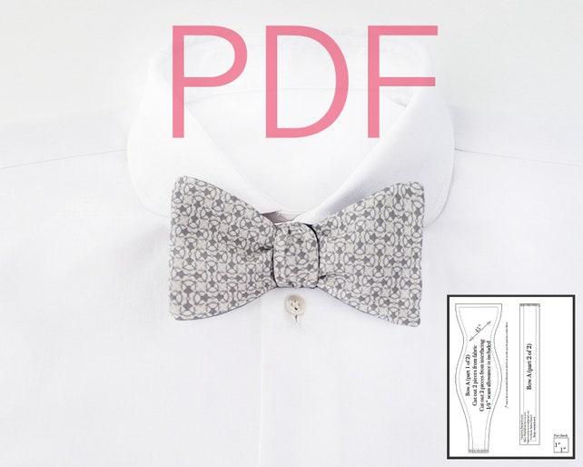 Bow Tie Pdf Patterns Bowtie Sewing Patterns Fall Diy Men Etsy