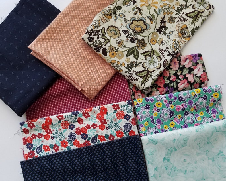 Flowers Craft Patchwork Bundle Remnants Quilting Mixed Dress Fabric Materials