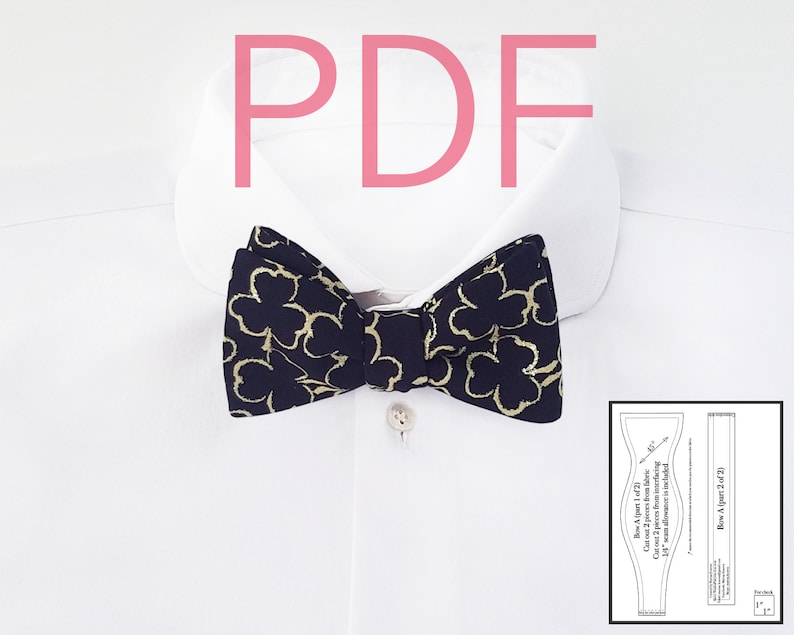 Bow tie patterns Digital download PDF Bowtie Sewing image 0