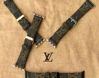 Authentic Re-purposed Handmade Louis Vuitton, LV Apple Watch Band Series 1, 2, 3,4  - 38 mm, 40 mm, 42 mm, 44 mm