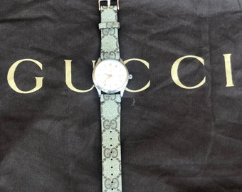 GUCCI Watch Band, gucci watch strap Authentic Re-purposed Handmade Gucci, Gucci 22 mm lug size