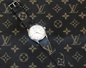 Louis Vuitton Watch Band, LV watch strap Authentic Re-purposed Handmade Louis Vuitton, LV 22 mm lug size